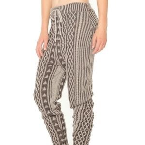 Some Days Lovin Ultra High Rise Slouch Cable Pants